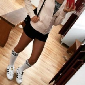 Adidas Black White Stripe Sneakers